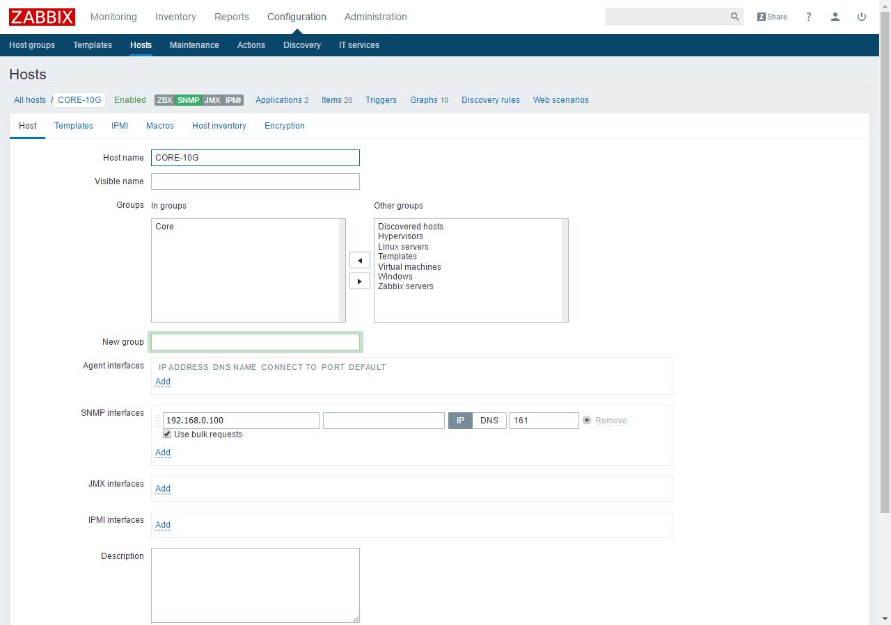 Zabbix и snmp на примере коммутатора D'link - Заметки